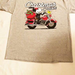 Peanuts shirt mens new size XL Christmas Cruisin